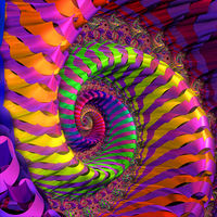 Today's Art Print: Coloured Spiral wheel'