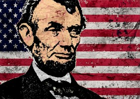 Today's Art Print: ABRAHAM LINCOLN-OLD GLORY'