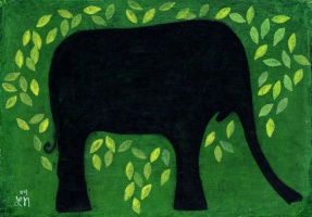 Elephant in Green