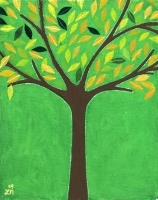 Today's Art Print: Tree in Green'