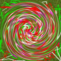 Today's Art Print: GREEN RED SPIRAL'