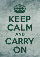 Keep Calm and Carry On Grunge Art