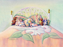 ANGELS on my BED by SHARON SHARPE